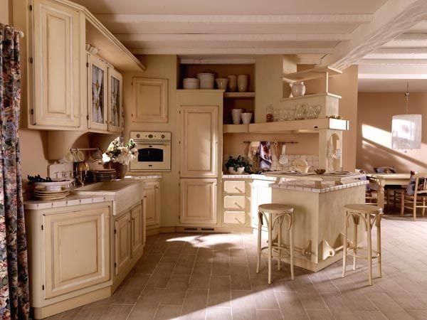 Risultati immagini per cucina muratura shabby chic - Piastrelle rustiche per cucina ...