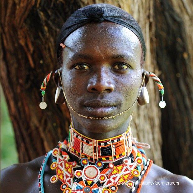 Africa | Samburu warrior.  Kenya | ©Jean-Claude Fournier