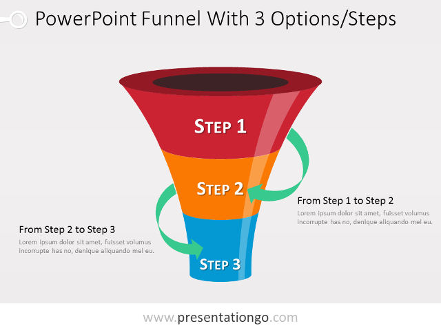Simple Funnel Diagram For PowerPoint PresentationGOcom - Awesome funnel image powerpoint concept