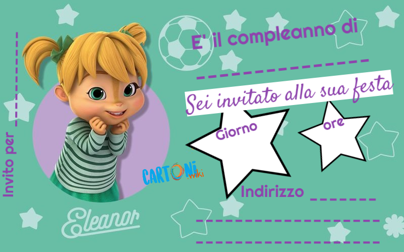 Cartoni Animati Alvin And The Chipmunks Invito Festa Di
