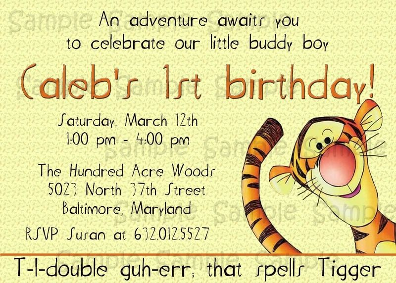 Custom printable tigger invitation perfect for birthdays 1st custom printable tigger invitation perfect for birthdays 1st birthdays baby showers filmwisefo