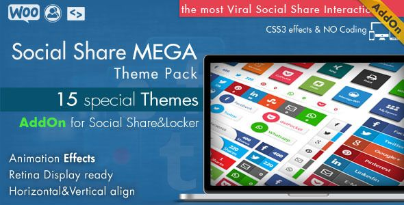 cool Download Social Share Mega Theme Pack WordPress