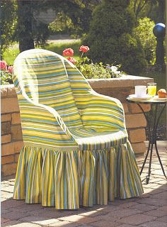 Sew The Plastic Chair Cover Tutorial