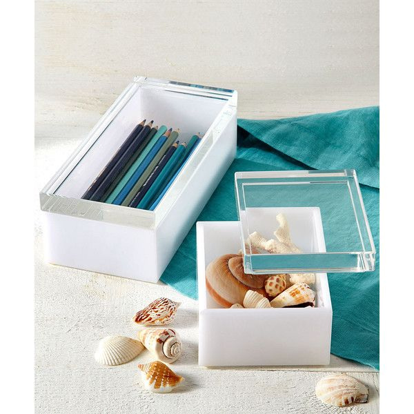 Two S Company Tozai Home White Acrylic Boxes Set Of 2 175 Aud