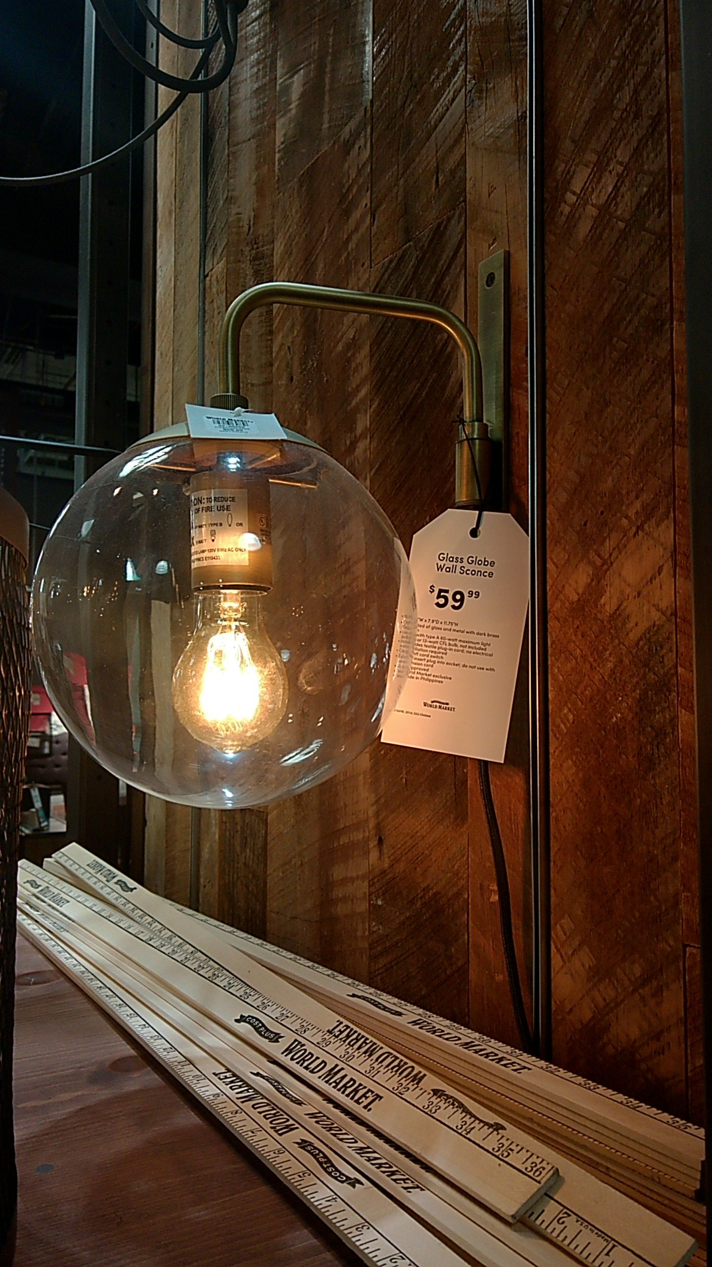 Plug in globe wall sconce from world market bachelor pad plug in globe wall sconce from world market amipublicfo Image collections