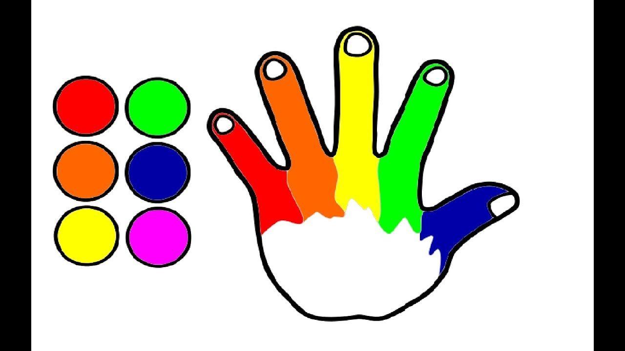 Zeichne Und Farbe Regenbogen Hand Zeichnungen Fur Kinder