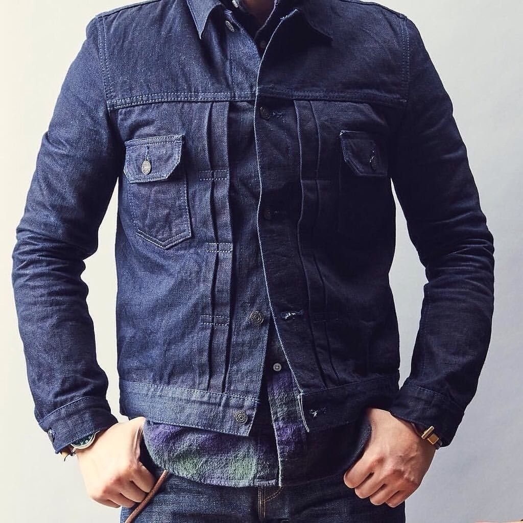 The Pure Blue Japan 6066 13oz Type2 denim jacket