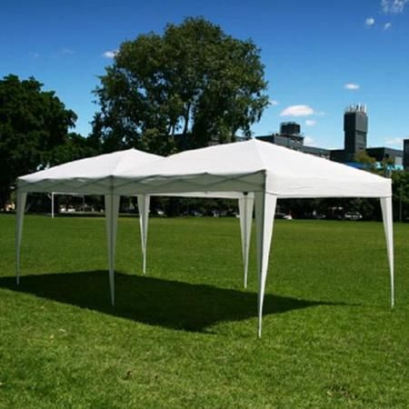 New 10 X 20 Palm Springs White Pop Up Ez Set Up Canopy Gazebo Party Tent Walmart Com Gazebo Party Tent Canopy Outdoor