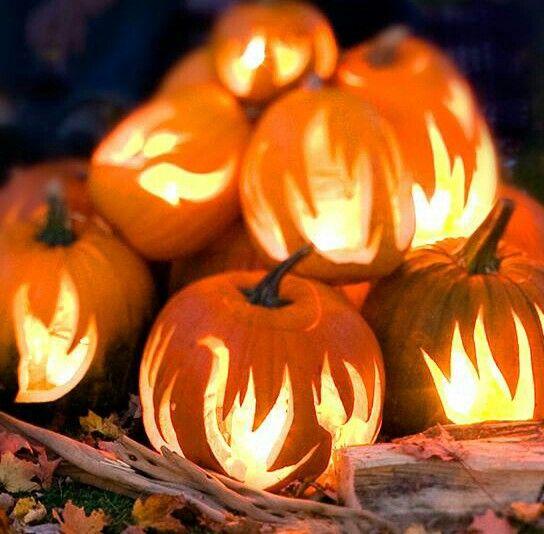 Flamming pumpkins