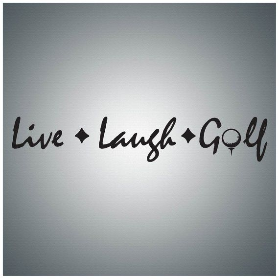 hobby sports wall decal art - live laugh golfwall quote decal