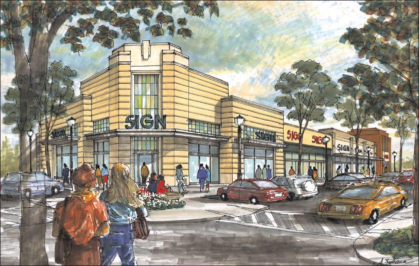 Retail Strip Center Plans Retail Architecture Storefront Design