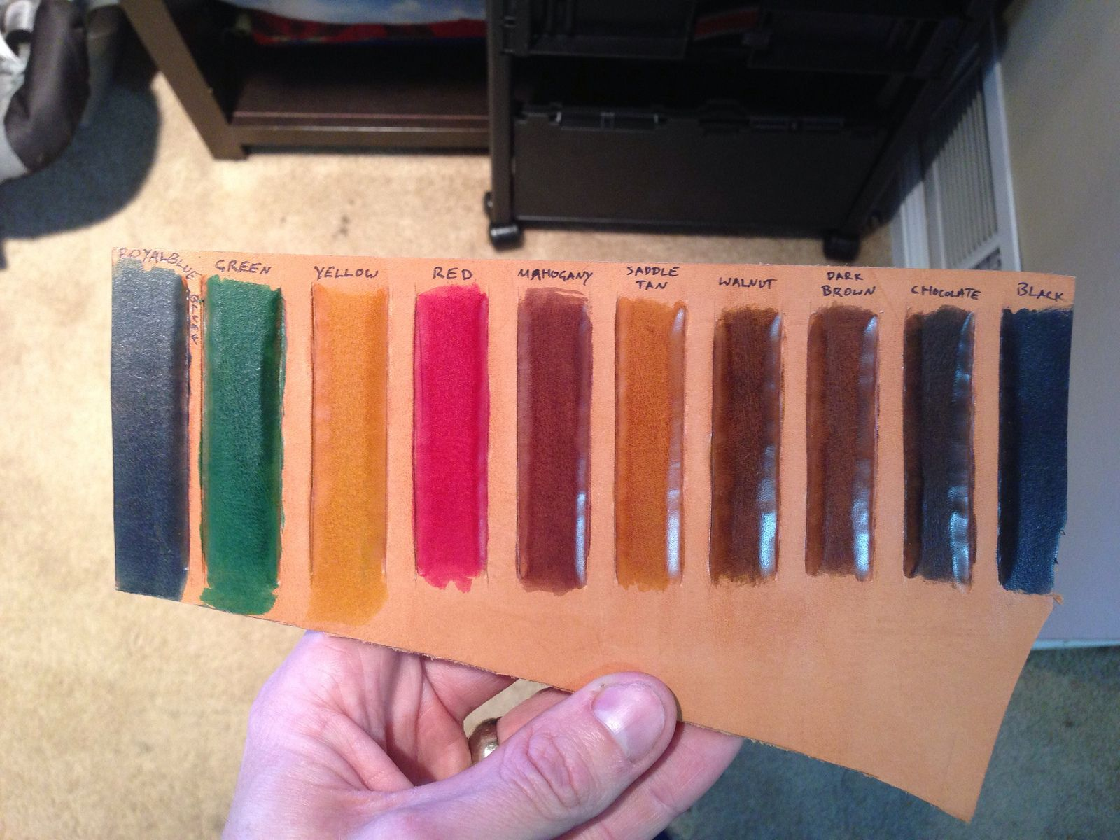 Fiebings Pro Oil Dye Color Chart Leather Dye Dye Leather Craft