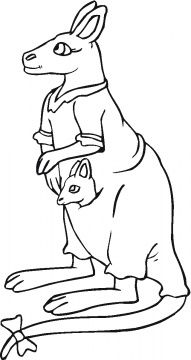 Kangaroo Mother And Baby Coloring Page Super Coloring Baby Coloring Pages Mother And Baby Coloring Pages