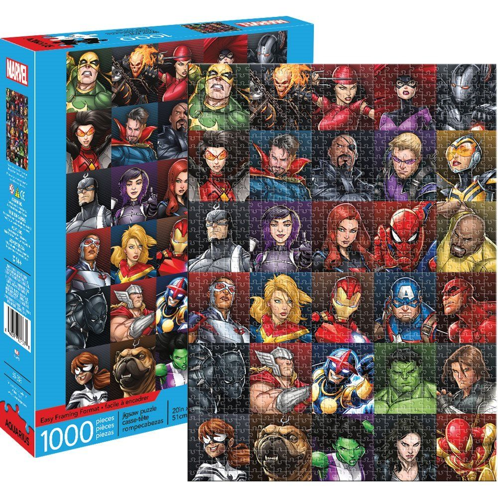 Marvel Heroes Collage 1 000 Piece Puzzle Entertainment Earth Marvel Puzzle Marvel Heroes Marvel