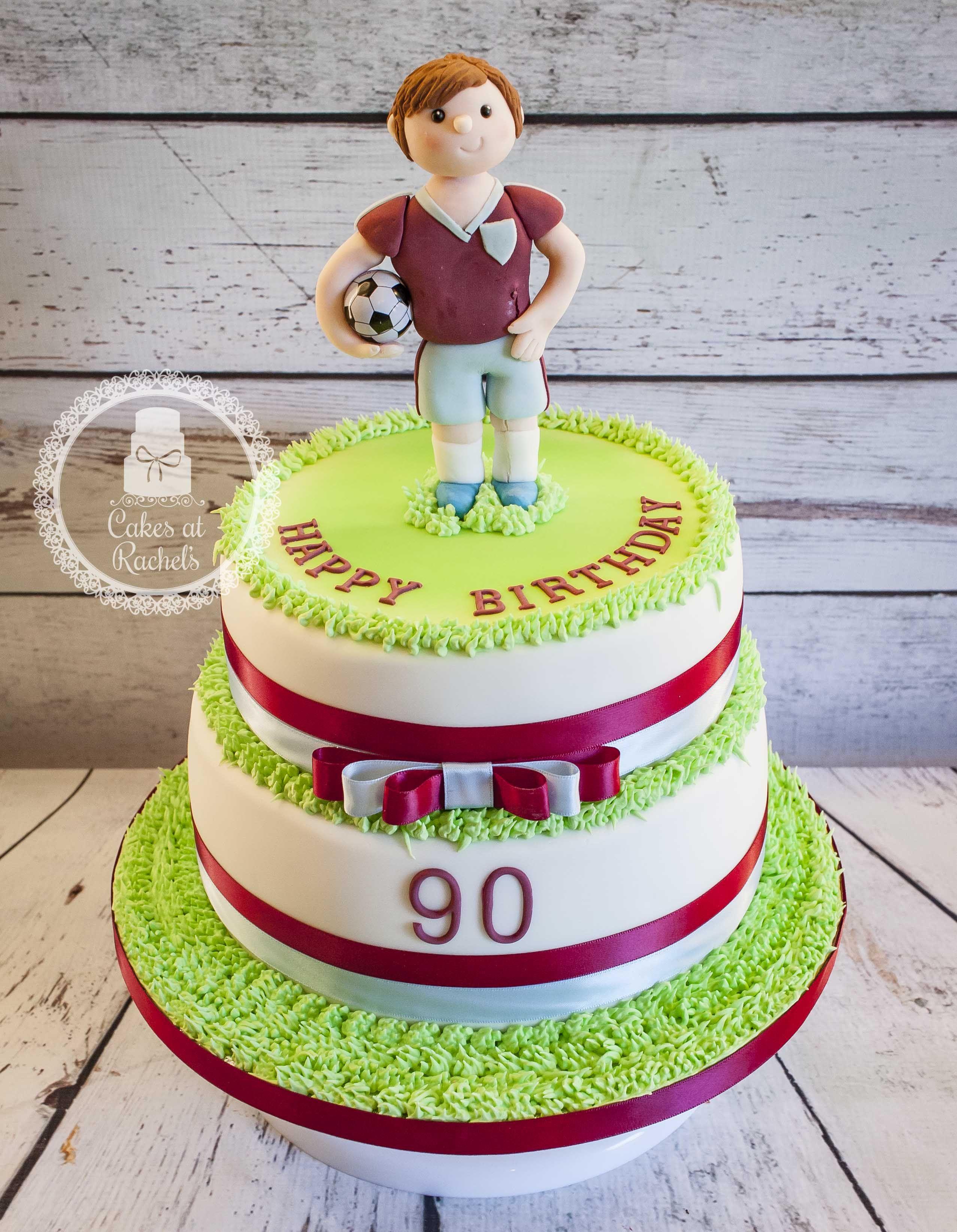 Burnley FC 90th birthday cake top tier rich fruit bottom tier