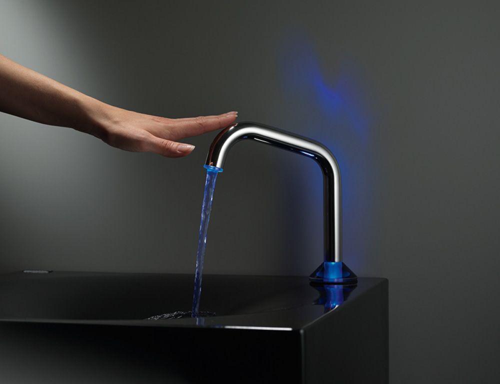 A Touch Sensor Kitchen Faucet.