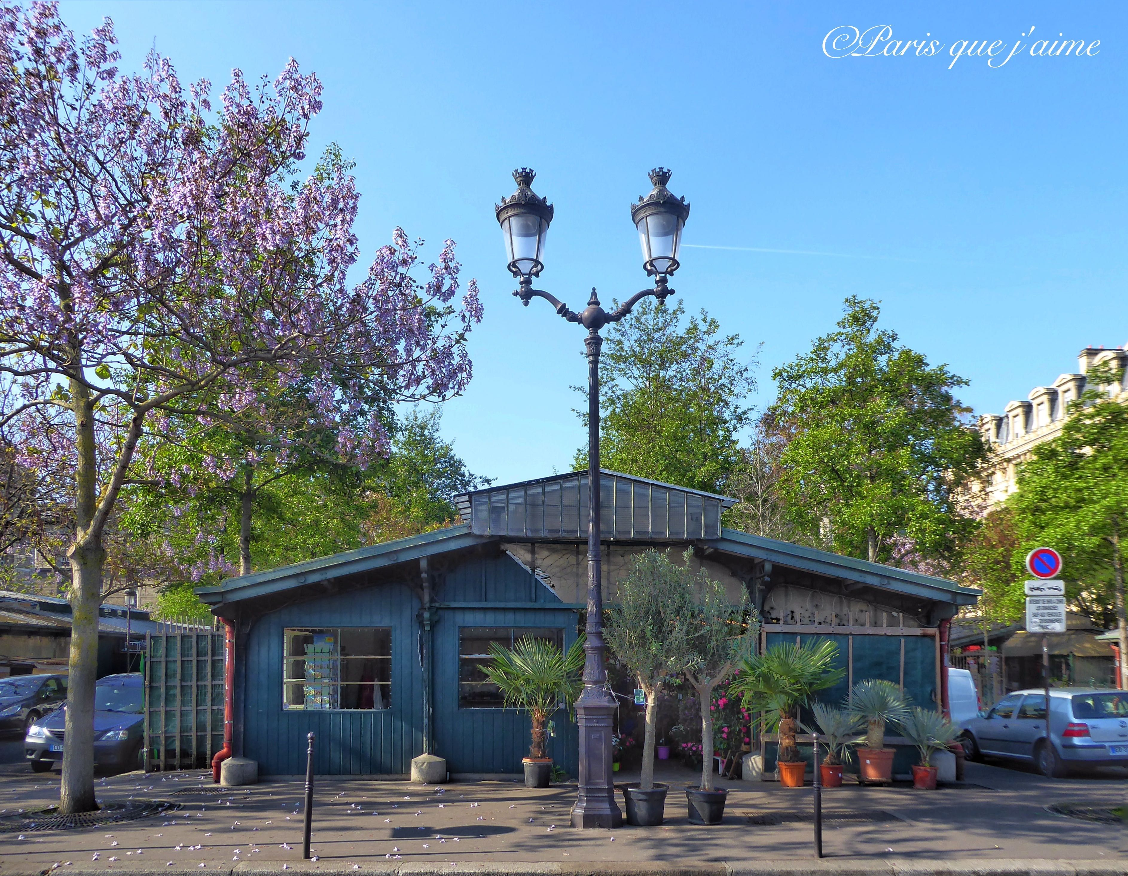 Le Marche Aux Fleurs Paris Photographie De Paris Paris Plaque