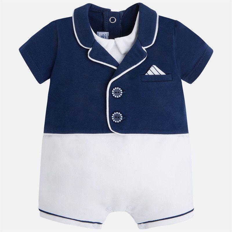 bf8046867403 Mayoral Baby Boy s Fancy Jacket Romper