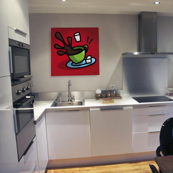 D coration murale des tableaux color s pour d corer votre cuisine le caf sucr d coration - Decoration murale pour cuisine ...
