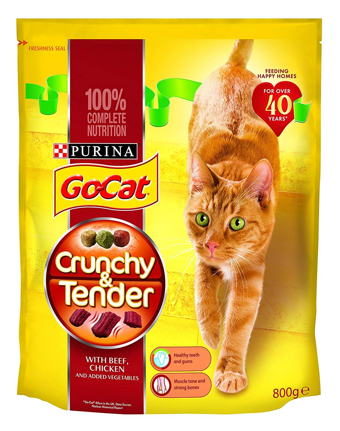Go Cat Crunchy and Tender Beef, Chicken and Veg 800 g