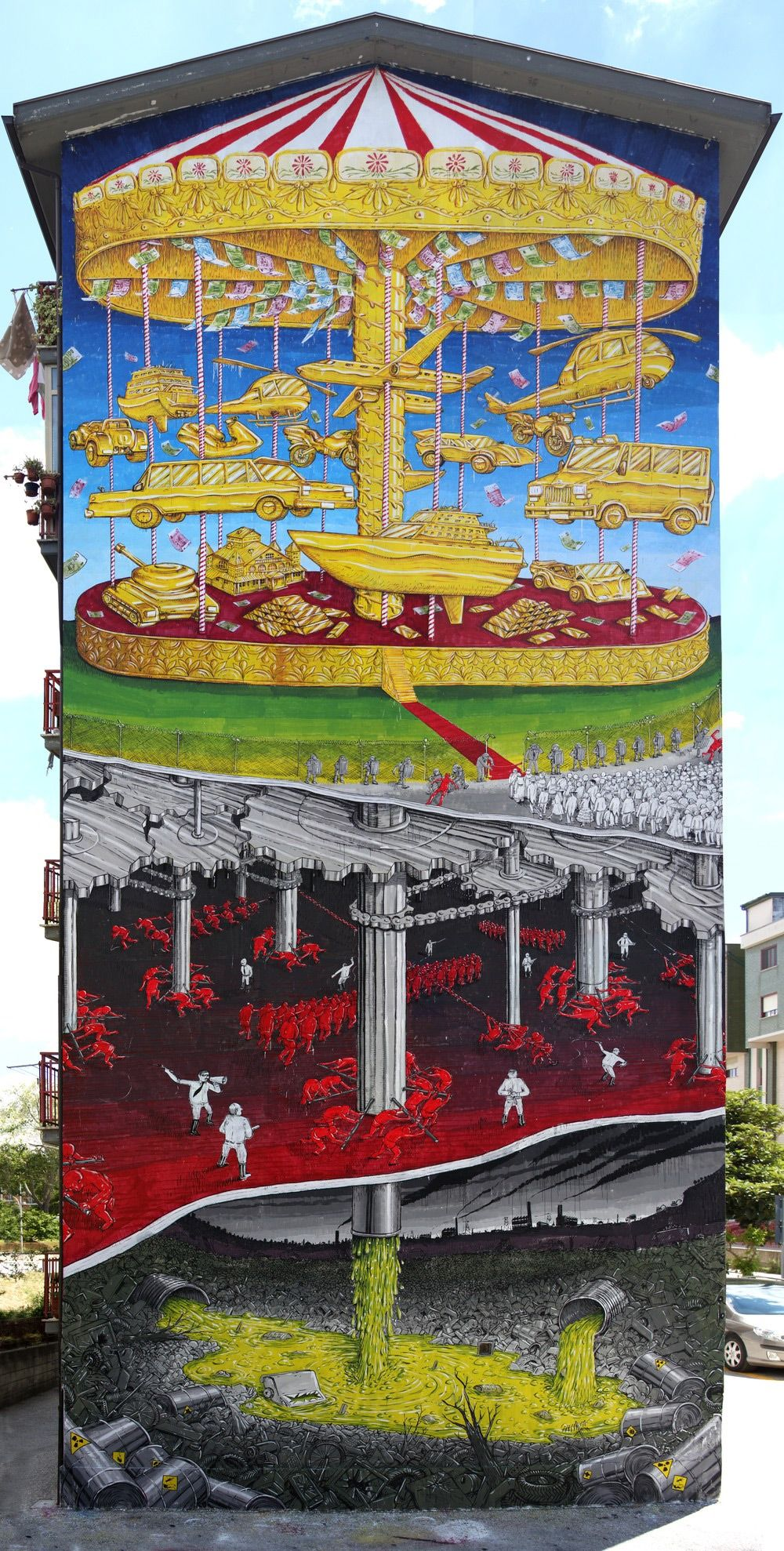 Towering Murals By Blu On The Streets Of Italy Confront