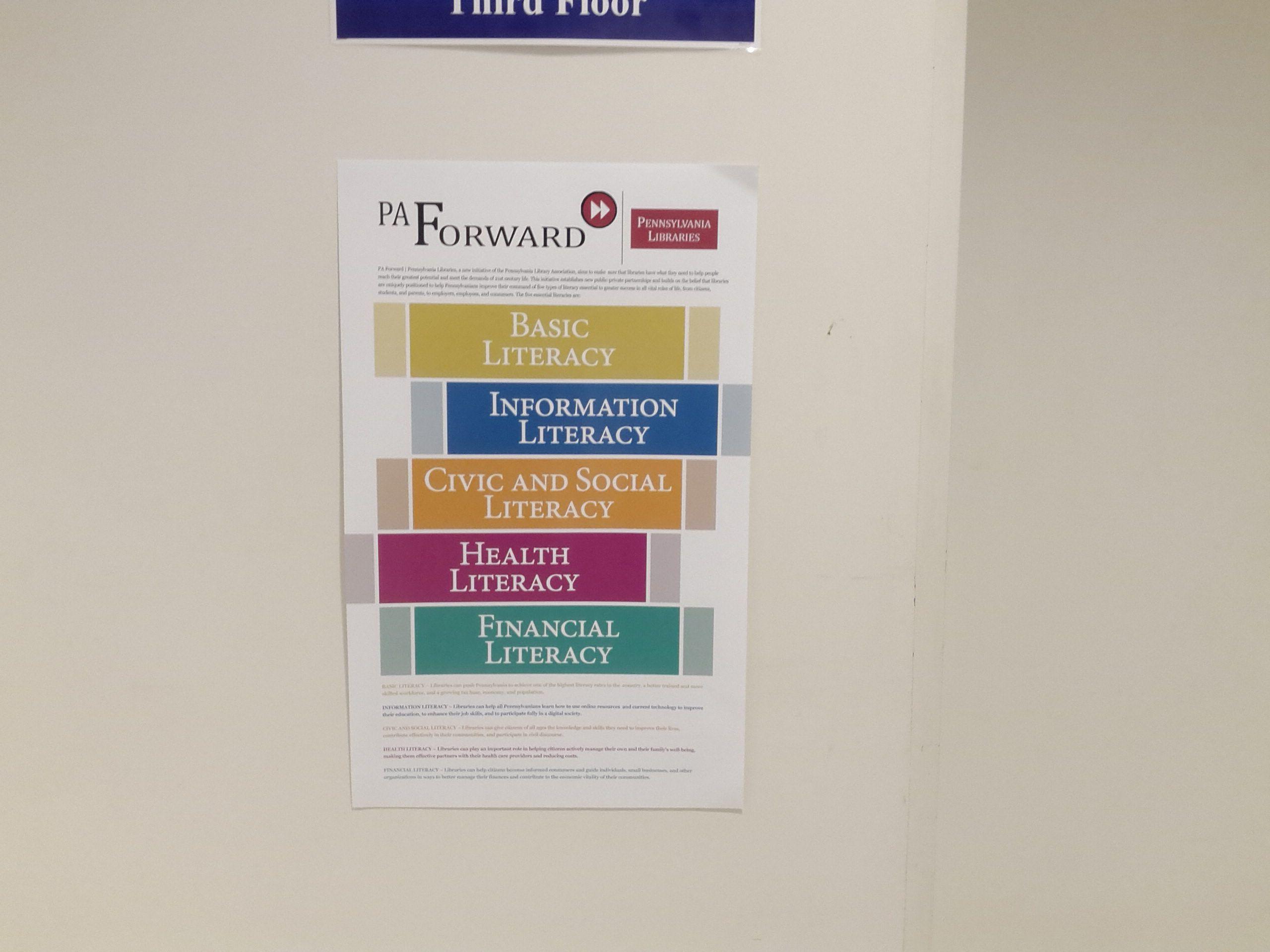 Poster At James V Brown Library Explaining Pa Forward