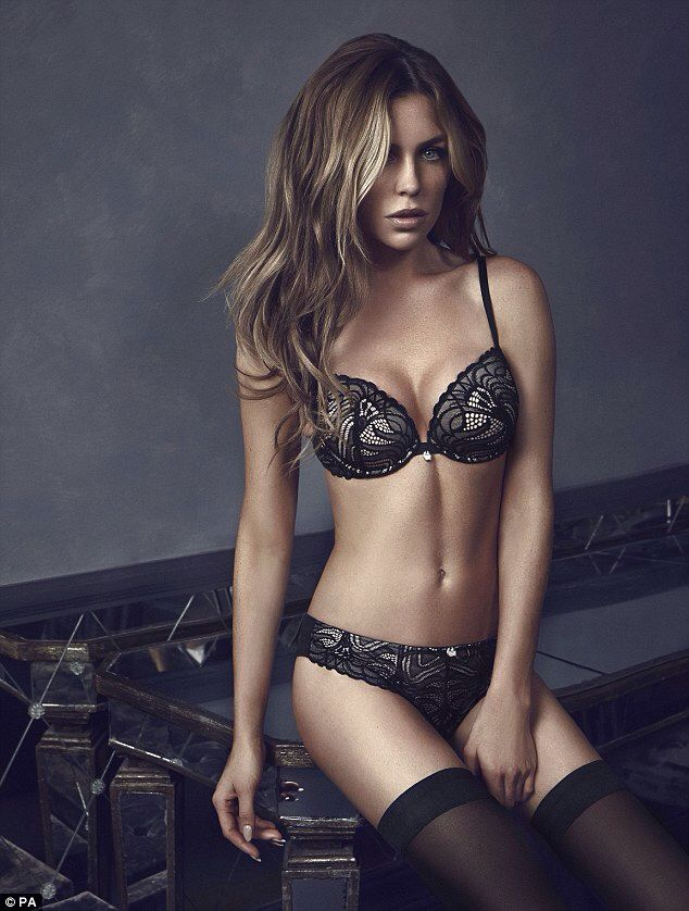 7ecbeba736 Abbey Clancy models the 2014 lingerie collection from Ultimo ...