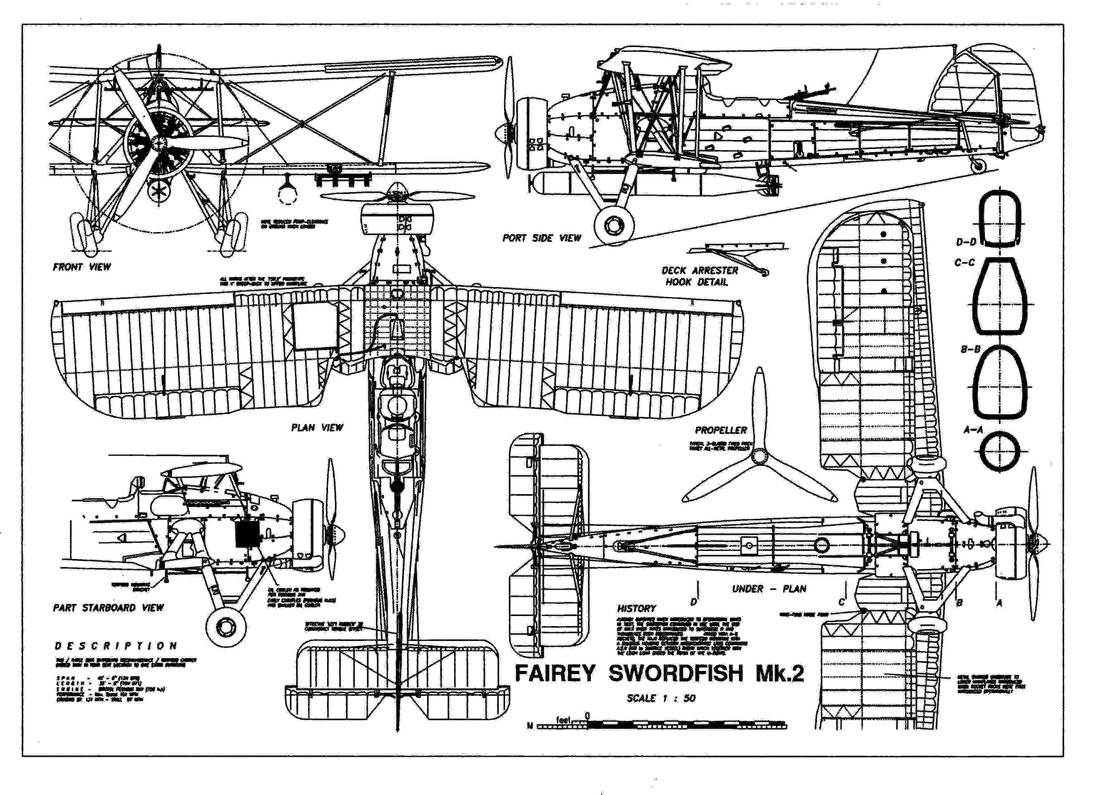 Fairy swordfish mark 2 aircraft 3 view scale drawings pinterest blueprint art of plane fairey swordfish technical drawings engineering drawings patent blue print art item 0006 malvernweather Image collections