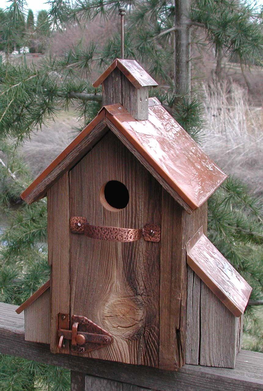 Rustic Birdhouses Plans For Decorative Birdhouses Large Rustic Rambler Decorative