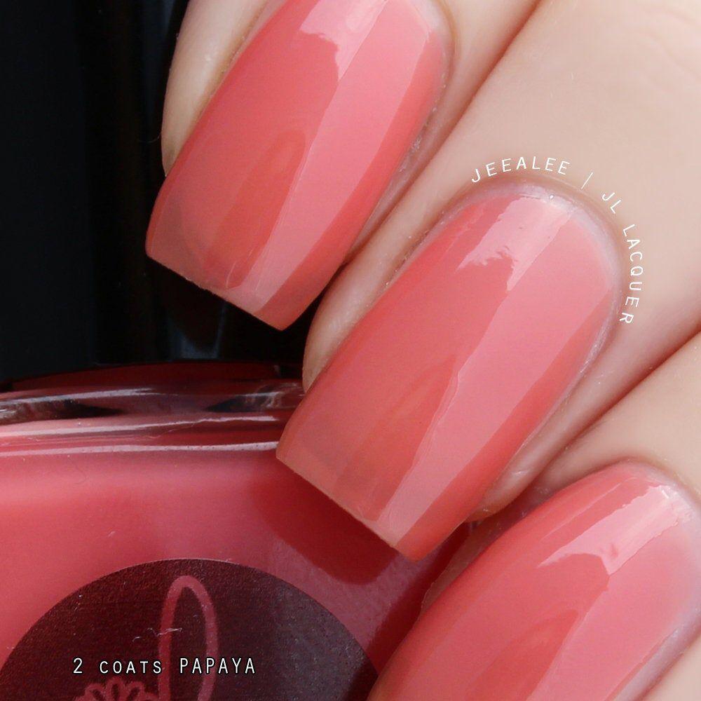 Papaya Papaya, Orange, Coral Pink Jelly Nail Polish