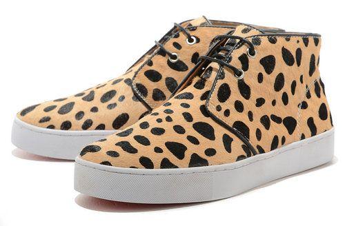 9bec529fa4da Christian Louboutin Leopard Print Pony Hair Women s Sneakers ...