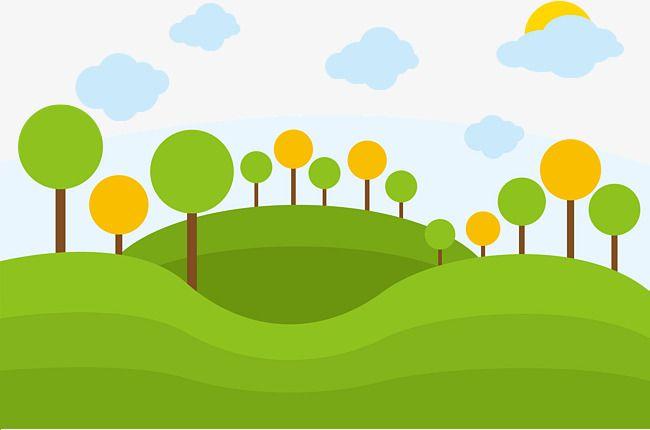 Garden Vector Trees Lawn Green Png Transparent Clipart Image And Psd File For Free Download Spring Illustration Digital Art Tutorial Landscape