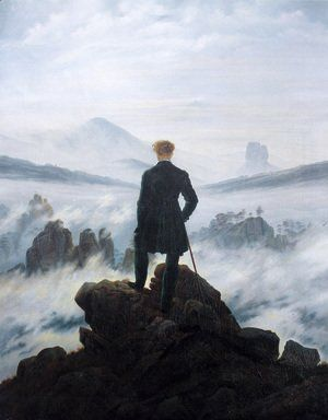 Photo of The Wanderer above the Mists 1817-18 Painting by Caspar Davi…