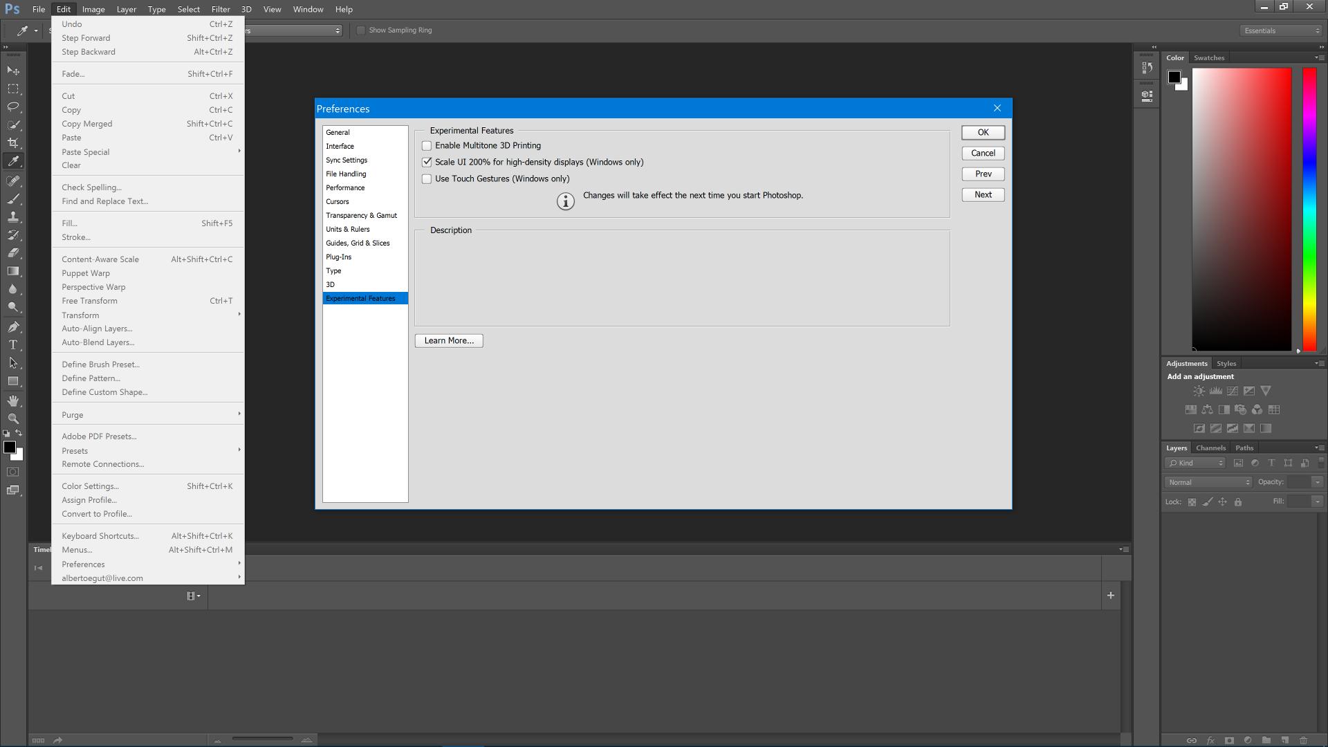 CS6 Menus and Icons too small on Windows 8.1