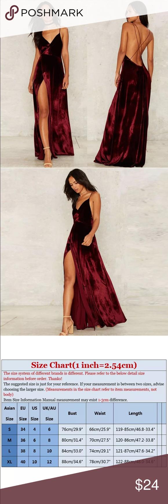 Hp nwot long backless dress backless dresses wine colored