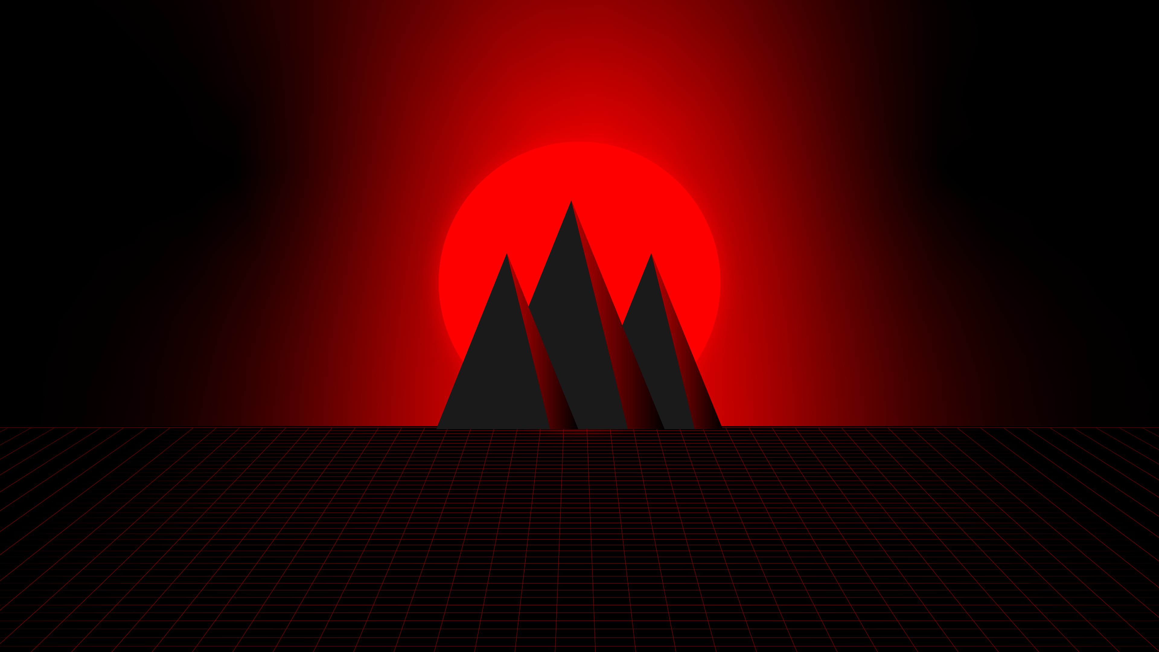 Synthwave red 4k [3840x2160] in 2020   Synthwave ...