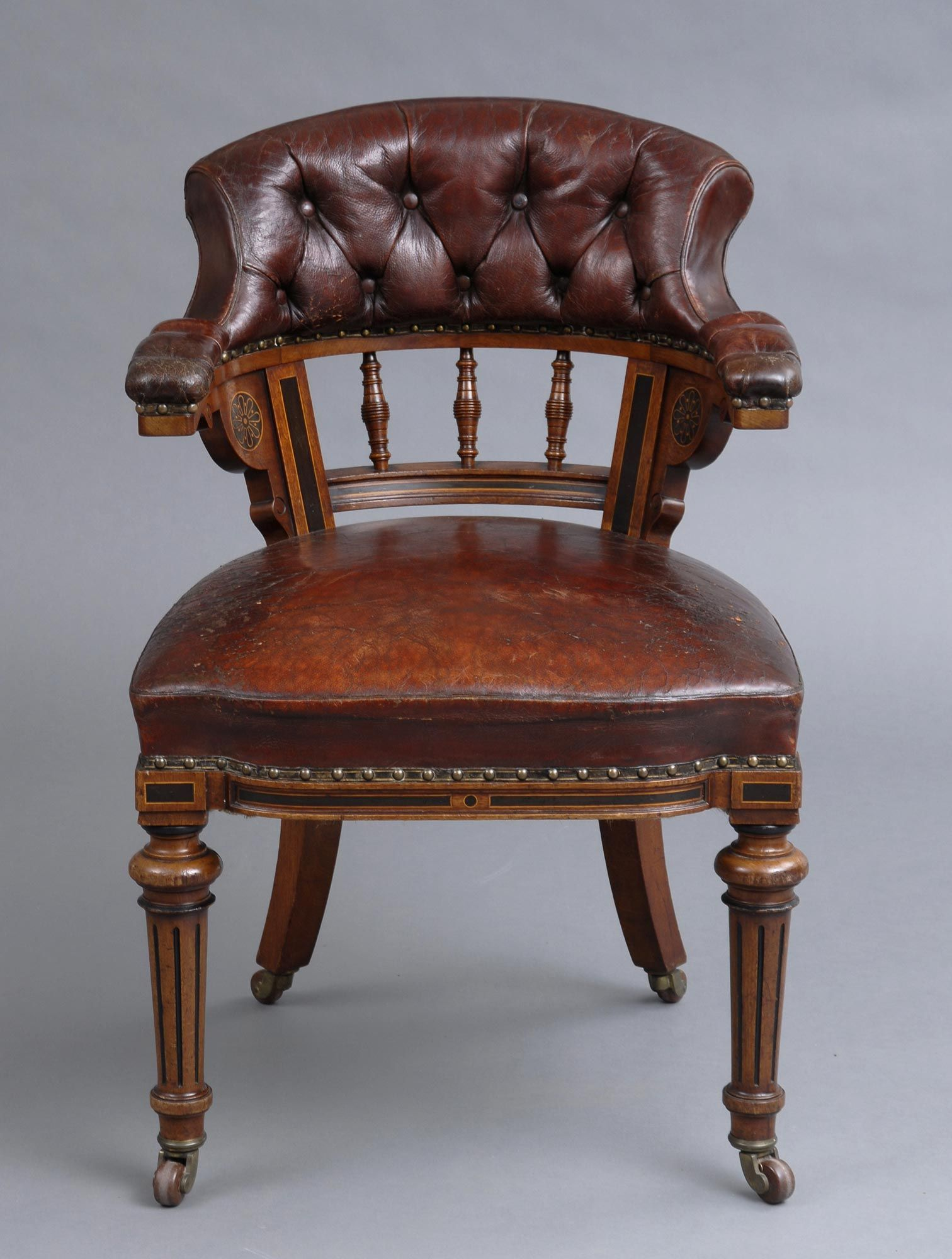 Product Victorian Oak Desk Chair Leather Chair Chair Victorian Desk