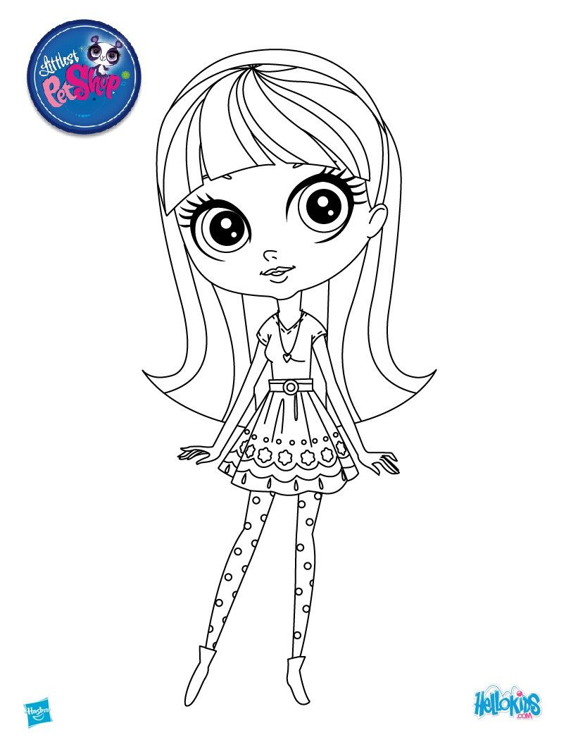 http://colorings.co/lps-coloring-pages-for-girls/ #Coloring, #Girls ...