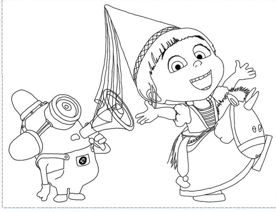 Online Free Despicable Me Coloring Pages - Kids Colouring Pages