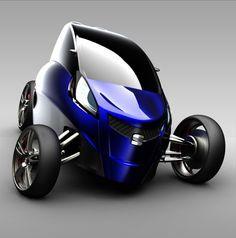 Viu – 3 Wheel Electric Concept Car