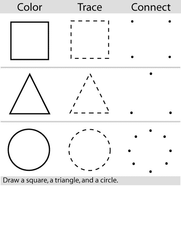Printable worksheets for kids Geometric Shapes 70 | manualidades ...