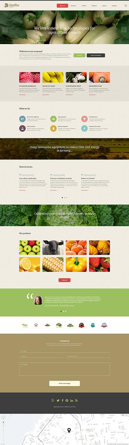 Agriculture Company website Template responsive Web design - company portfolio template