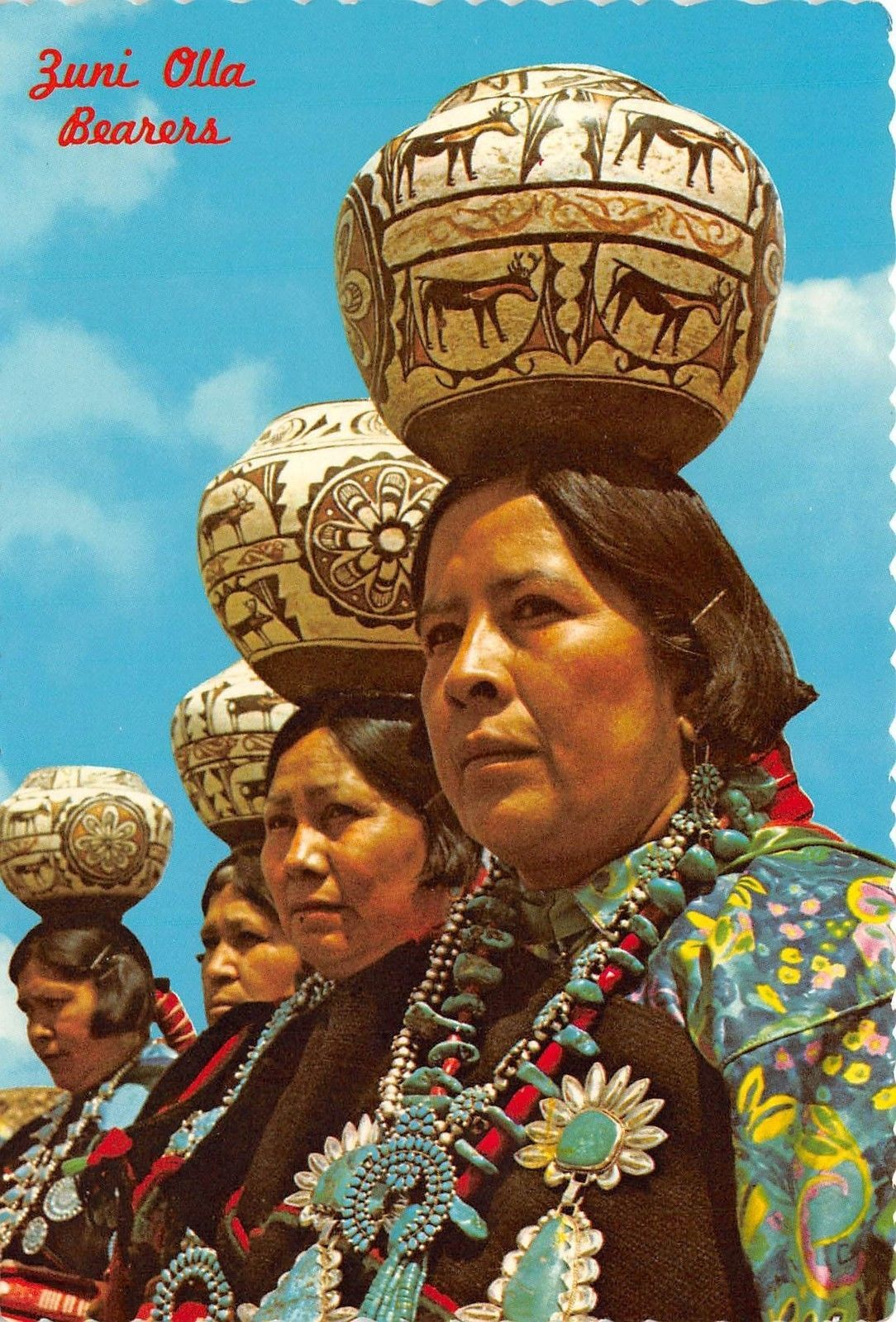 Olla Bearers Zuni Pueblo Western New Mexico