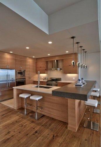 17 Diseños Modernos de Cocinas Minimalistas | DECO | Cocinas ...