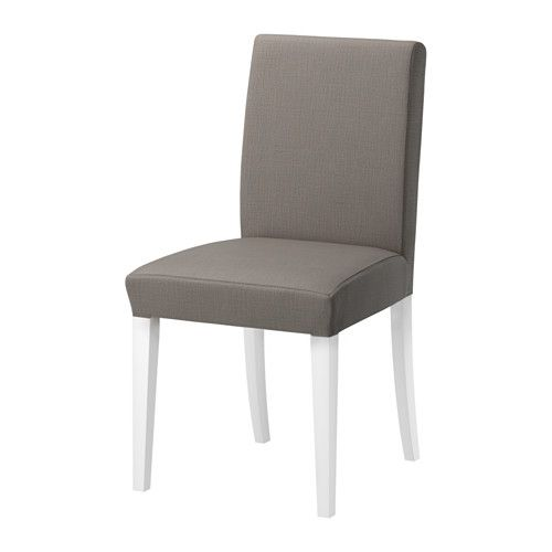 Dining Chairs For Sale Ikea: HENRIKSDAL Chair - White, Nolhaga Gray-beige