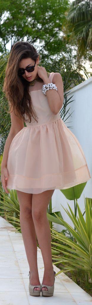 blush spring darling dress #fashion #style