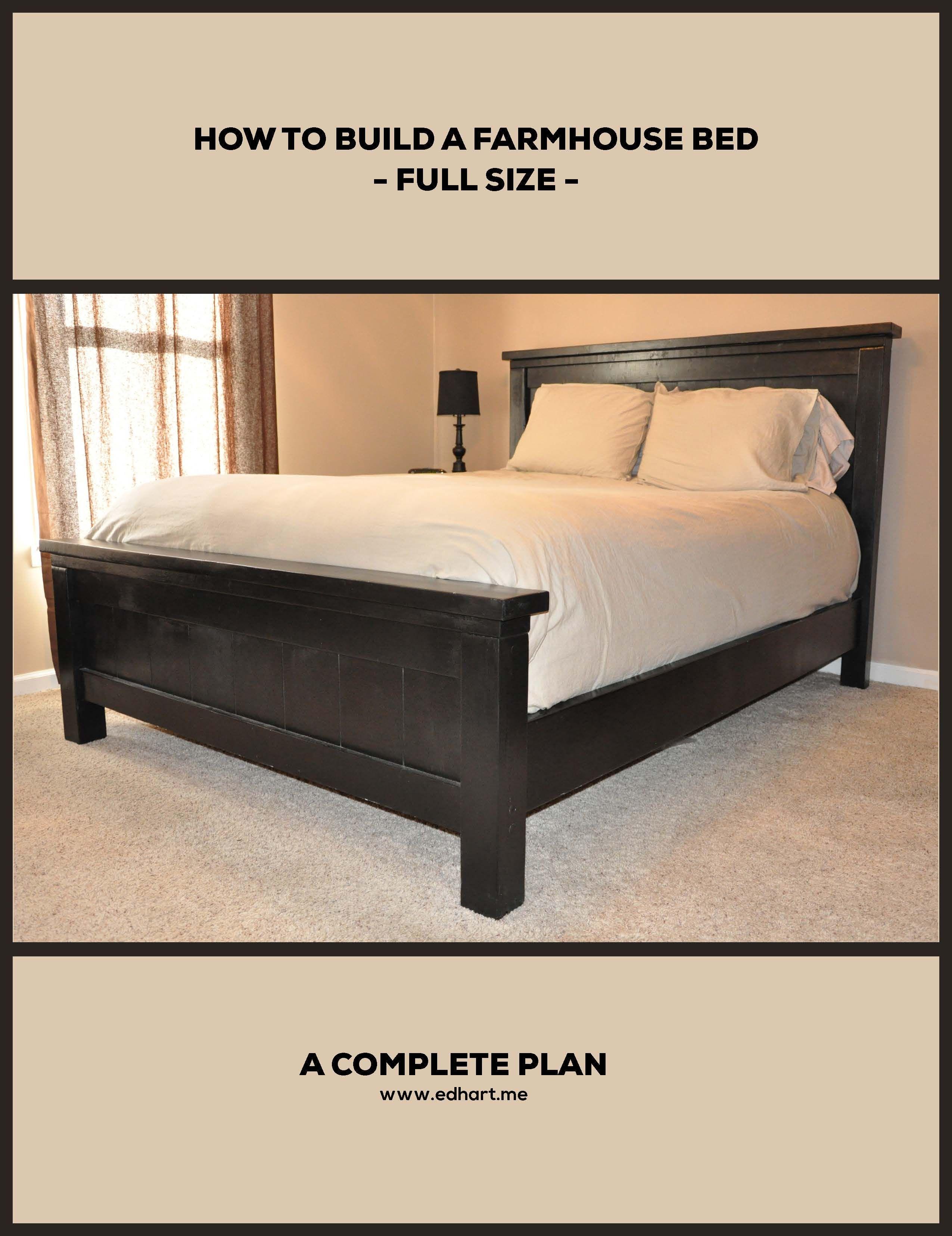 The 5 Rustic Farmhouse Bed Plan Farmhouse bedding, Diy