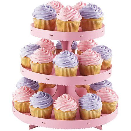 Wilton 3Tier Corrugated Cupcake Stand Pink 15120884 Customize