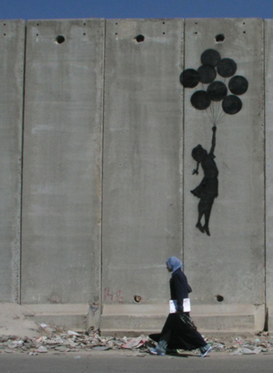Banksy Ballon girl on Gaza wall | it's called life ...