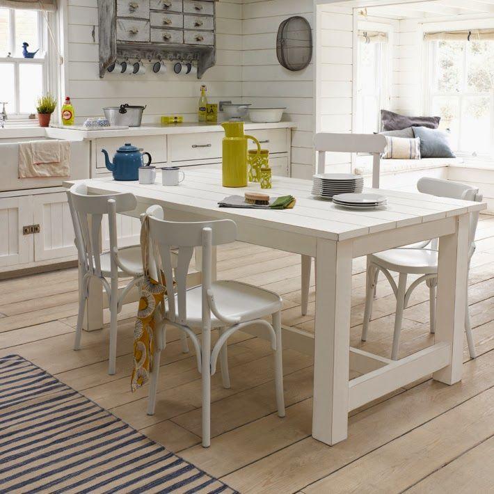 Mesa sillas blancas la maison pinterest sillas - Mesas y sillas blancas ...